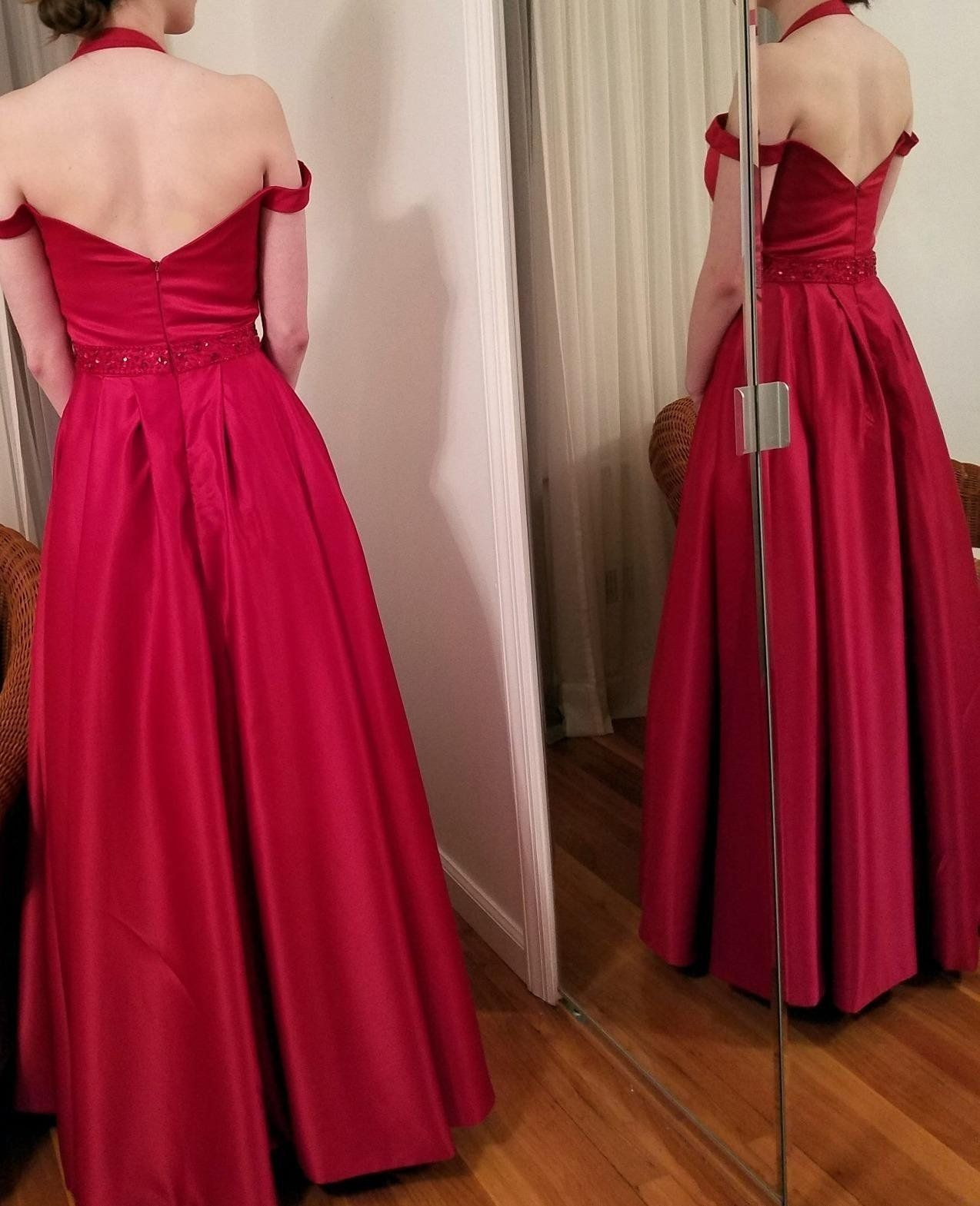 Best selling off the shoulder beaded satin long evening prom