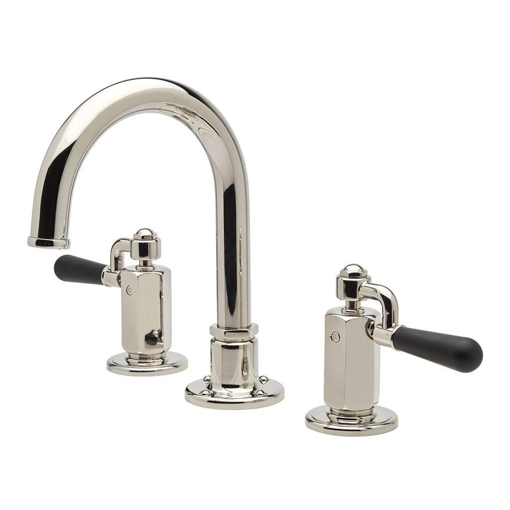 Regulator Gooseneck Three Hole Deck Mounted Lavatory Faucet with ...