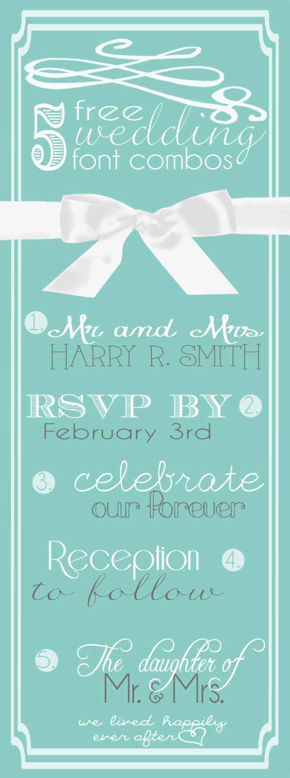 5 Lovely and Free Wedding Font Combinations Wedding
