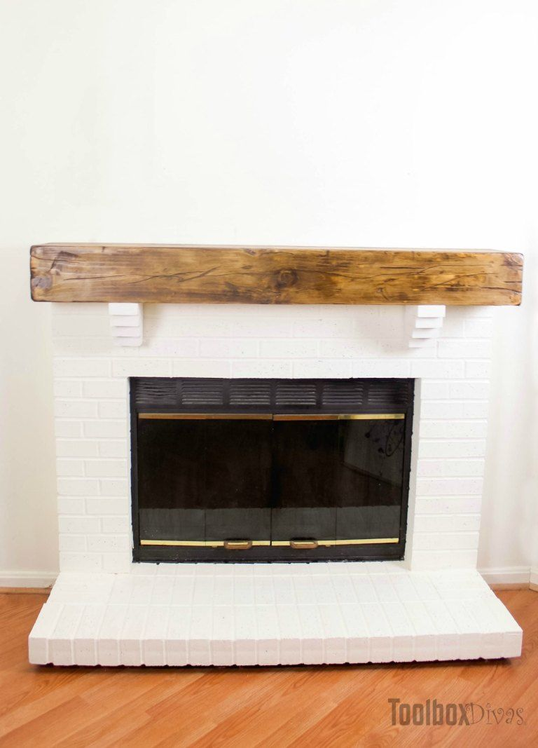 How to build a rustic faux beam mantel rustic fireplace