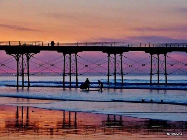 Mark cardaropoli saltburn by the sea at sunset