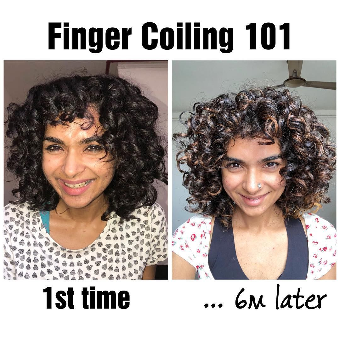 Some Of The Best Instagram Beauties Have Trained Their Curls At Some Point Let No One Discour In 2020 Coiling Natural Hair Curly Hair Photos Finger Coils Natural Hair