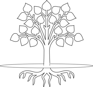 Tree Clip Art Black and White | Tree With Roots clip art - vector ...