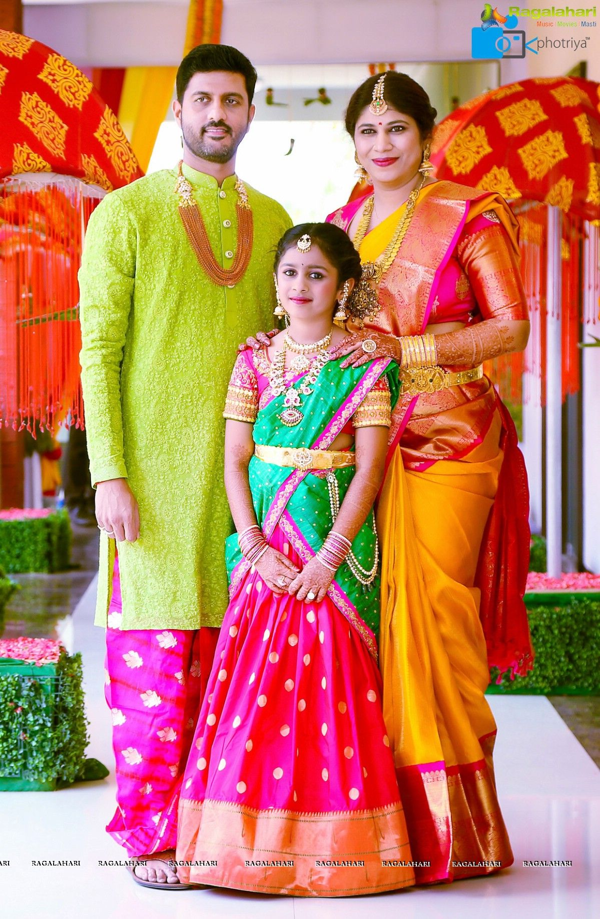 Photos Half Saree Function of Swathi Daughter of Famous