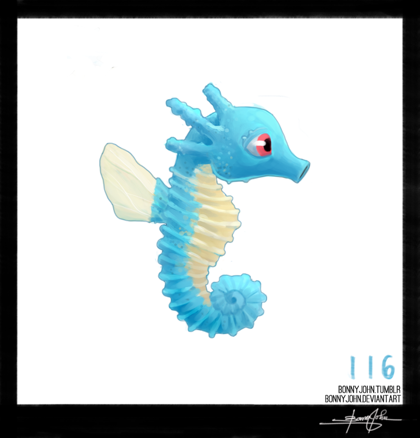 fe8f124e21aa Horsea! Pokemon One a Day! by BonnyJohn on DeviantArt | A Regular ...
