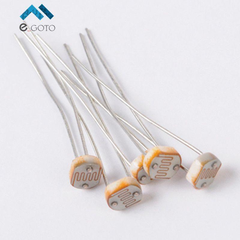 100pcs GL5539 Photoresistor LDR Photo Resistors Light-Dependent 5MM ...
