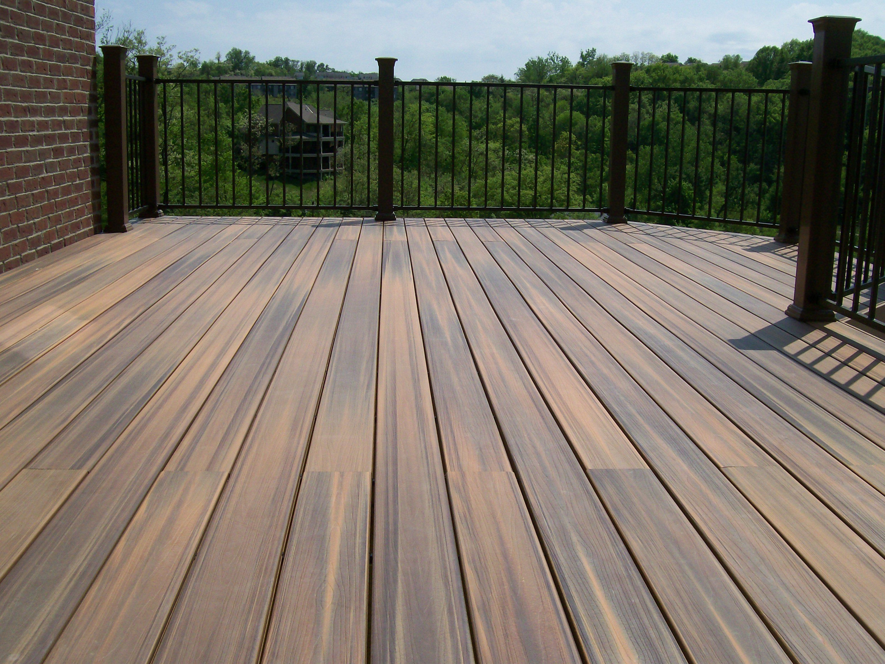 impressive trex composite decking 3 deck composite