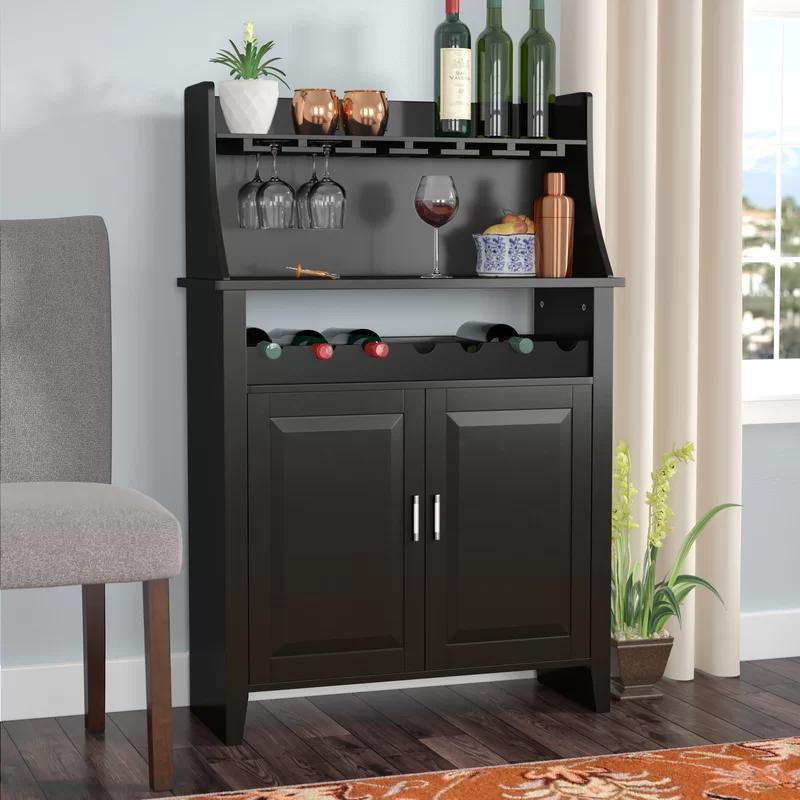 Roiguez 6 Bottle Bar With Wine Storage Bar Furniture Wine Storage Wine Bar Furniture