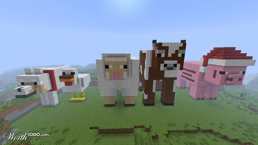 Minecraft Giant Animals D Minecraft Dogs Minecraft Garden