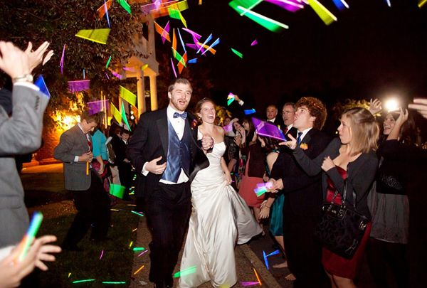 Dude Glow Sticks Not Even For A Send Off Just To Have Around The Whole Time Glow Stick Wedding Wedding Exits Wedding Send Off
