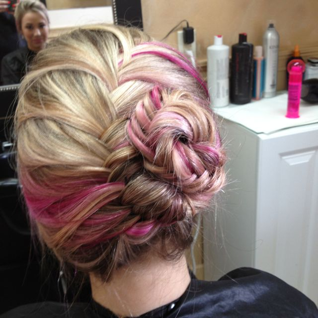 French fish tail updo :) by @Kayla Lycklama