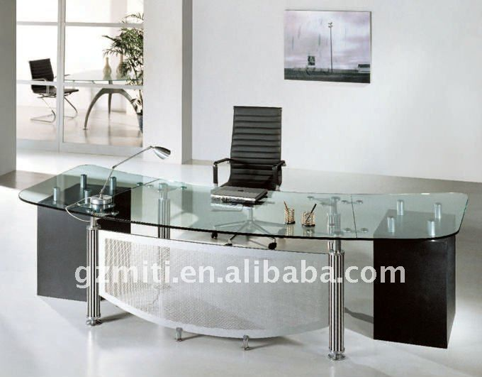 Glass Executive Desk Buy Glass Executive Desk Modern Black Glass