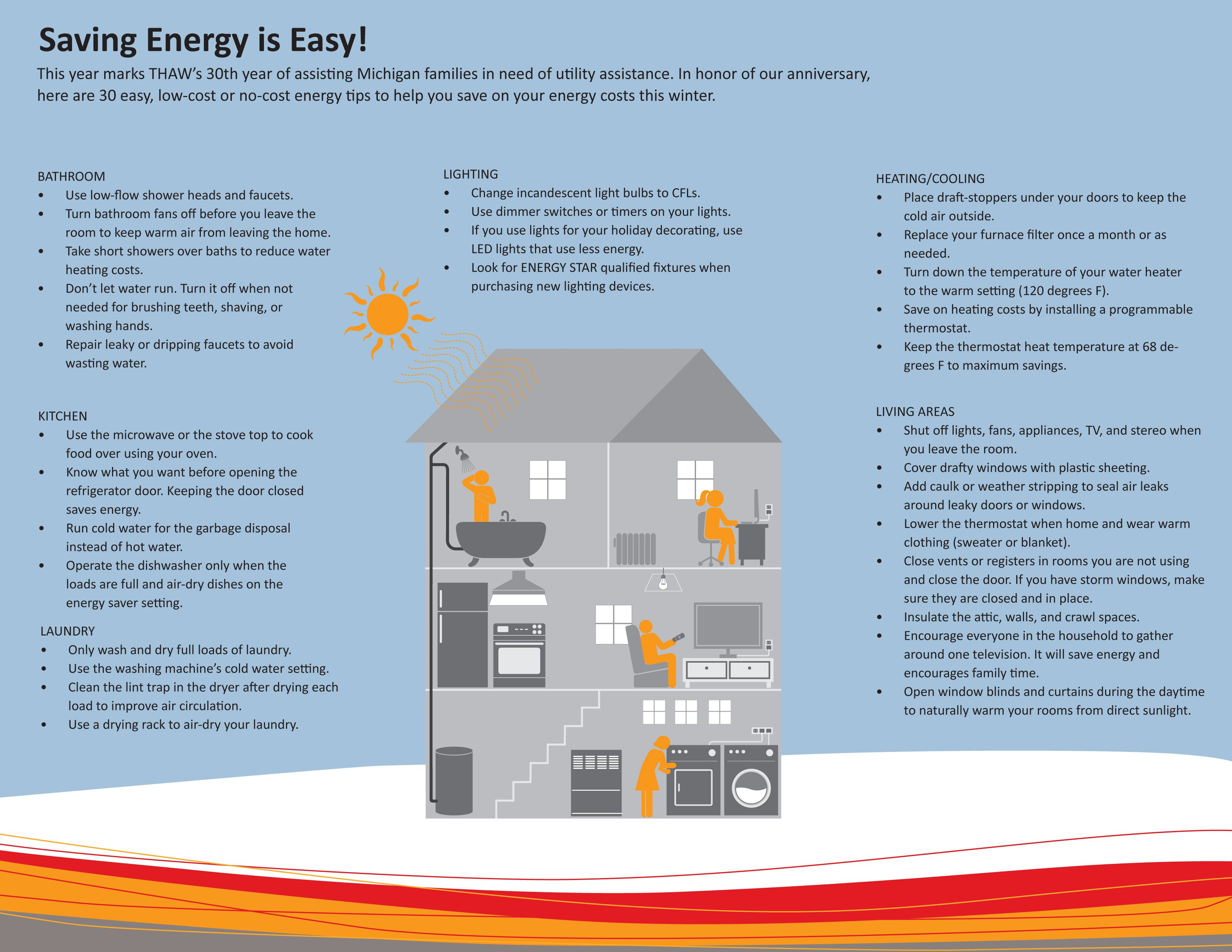 The Heat And Warmth Fund S Thaw Low Cost To No Cost Energy Saving Tips For The Winter Months Energy Saving Tips Save Energy Energy Cost