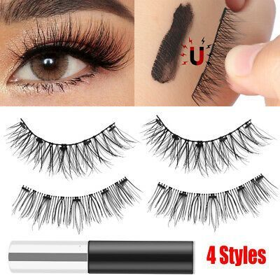 Magnetic Eyeliner Magnetic False Eyelashes Natural Long Black No Glue Need        Eyeliner magnéti