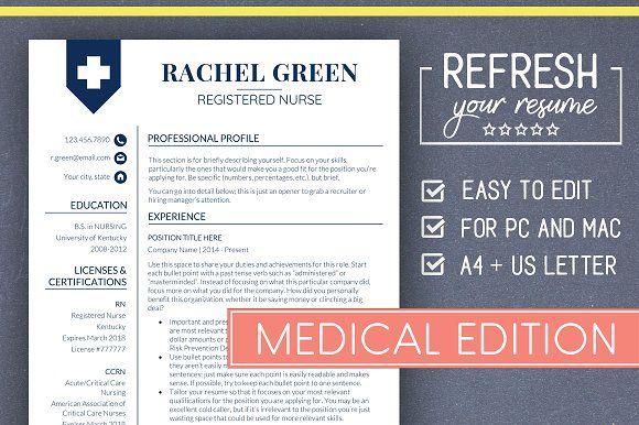Medical RESUME Template Nurse Resume creativework247 Resume