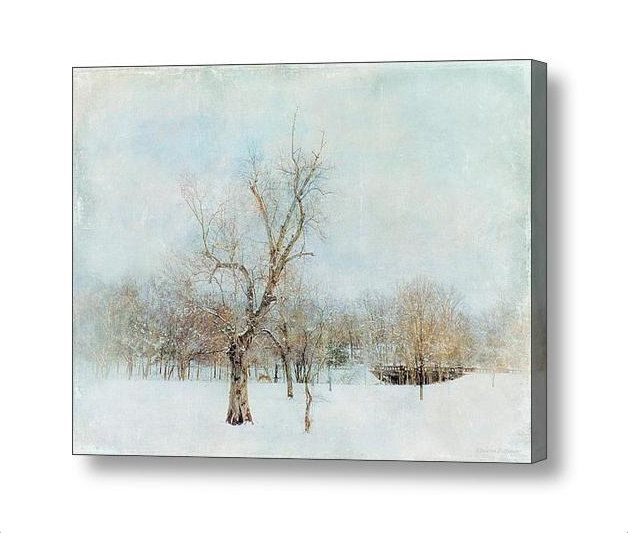 Minimalist Winter Landscape Snow and Bare Trees in the Park Textured Photographic Art Gallery Wrap Canvas FREE SHIPPING USA by PaintedTulipStudio on Etsy https://www.etsy.com/listing/224669942/minimalist-winter-landscape-snow-and