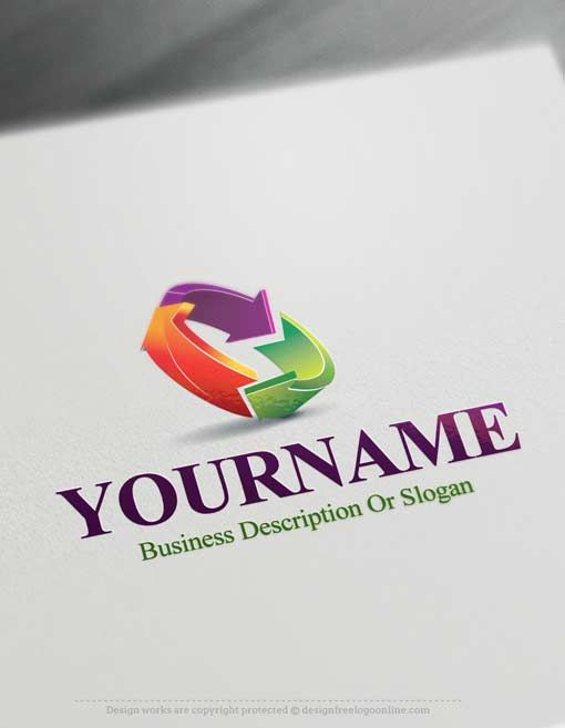 Online Free Logo Maker 3d Colorful Arrows Logo Logo Design Software Create Logo Design Arrow Logo