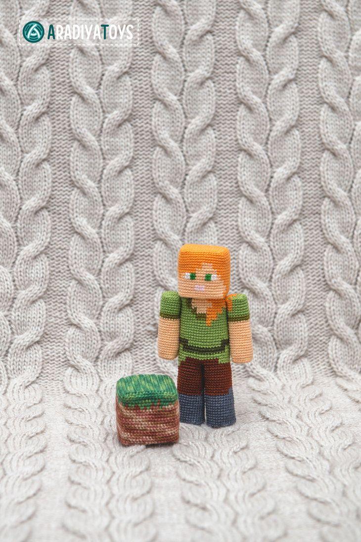 Alex from \'Minecraft\', amigurumi toy by AradiyaToys   Amiguri ...