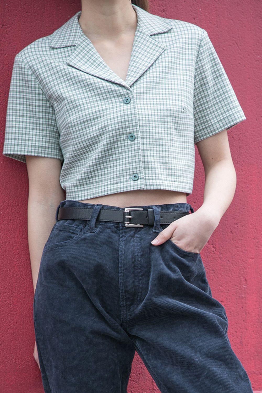Crop Top Short Sleeve Vivians Fashions Top