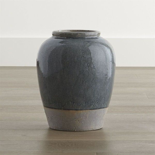 Crate Barrel Luana Small Urn Vase 35 liked on Polyvore