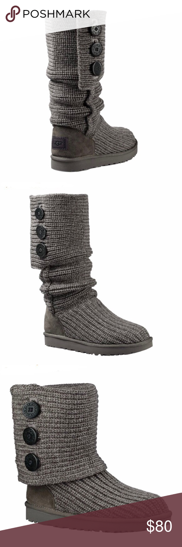 b98acd835e3 UGG Shoes | Ugg Cardy Boots, 10 | Color: Black/Gray | Size: 10 in ...