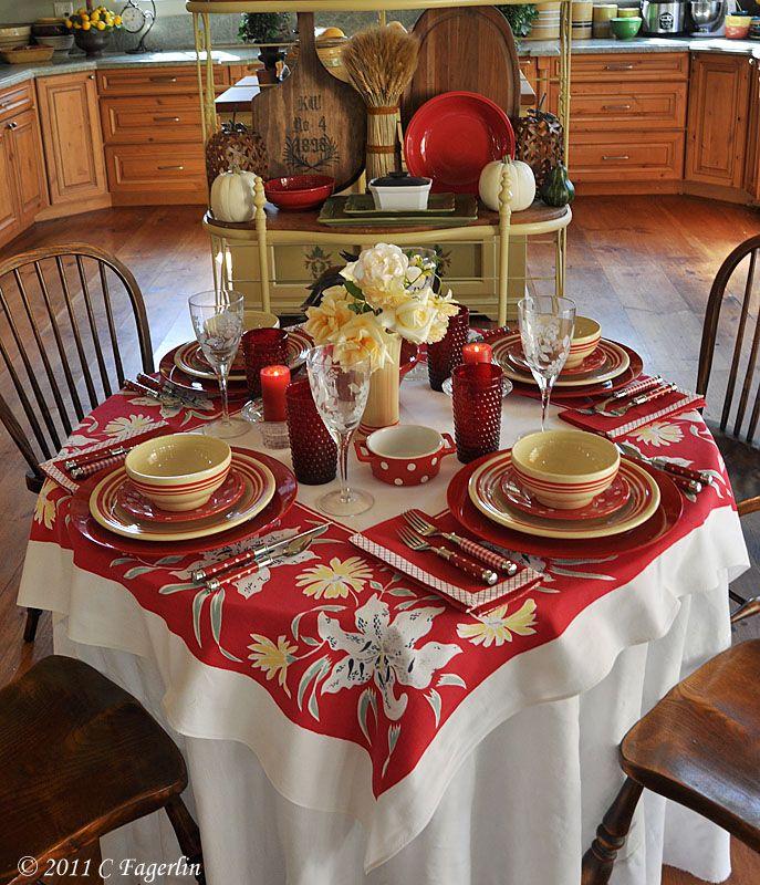 Lovely Dinner Table...All Vintage.