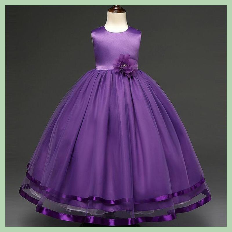 3-14Y Girls Wedding Party Dresses Long Disfraz Princesa Children ...