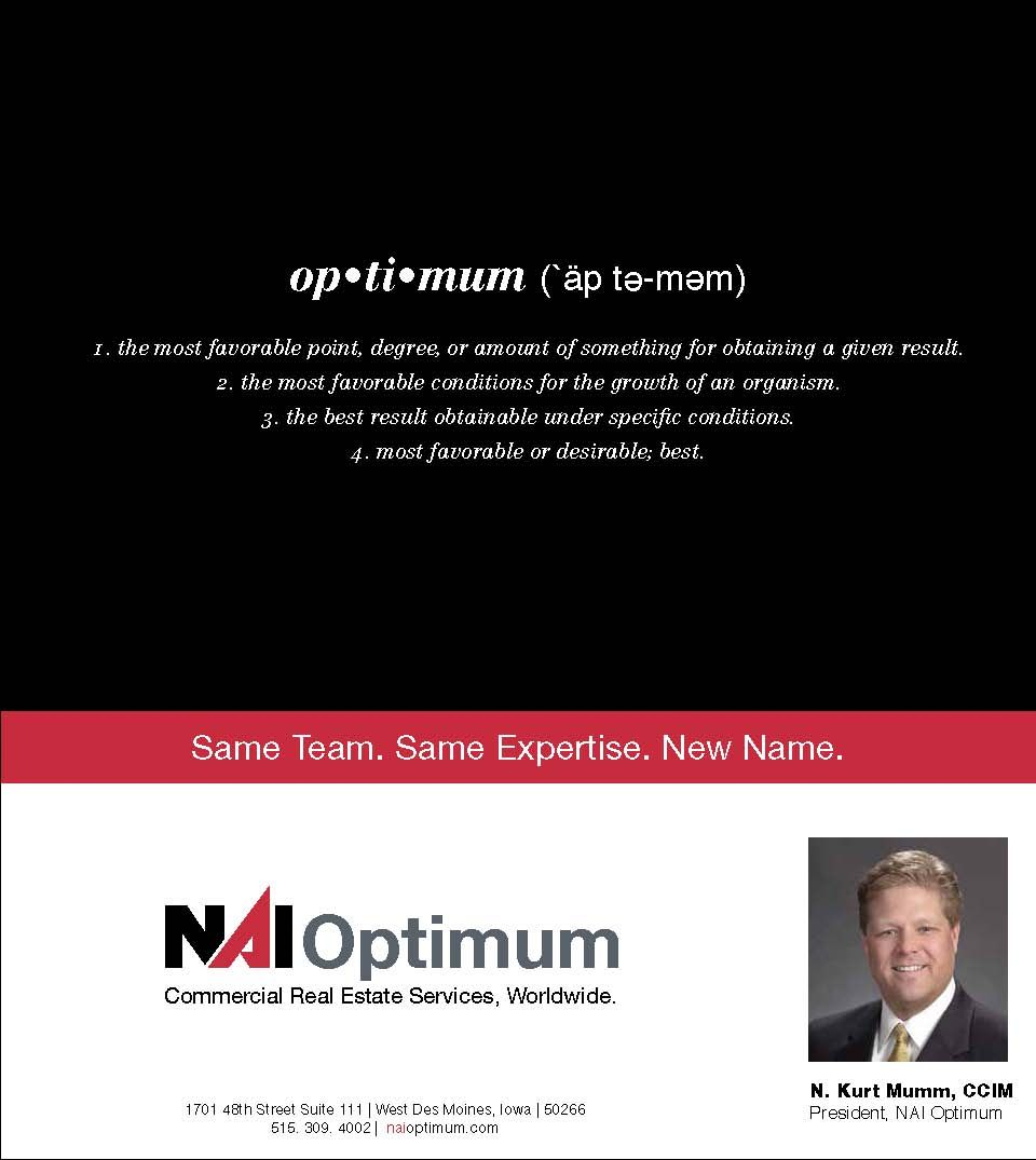 NAI Optimum - ReBranding Name Change Announcement - Des Moines