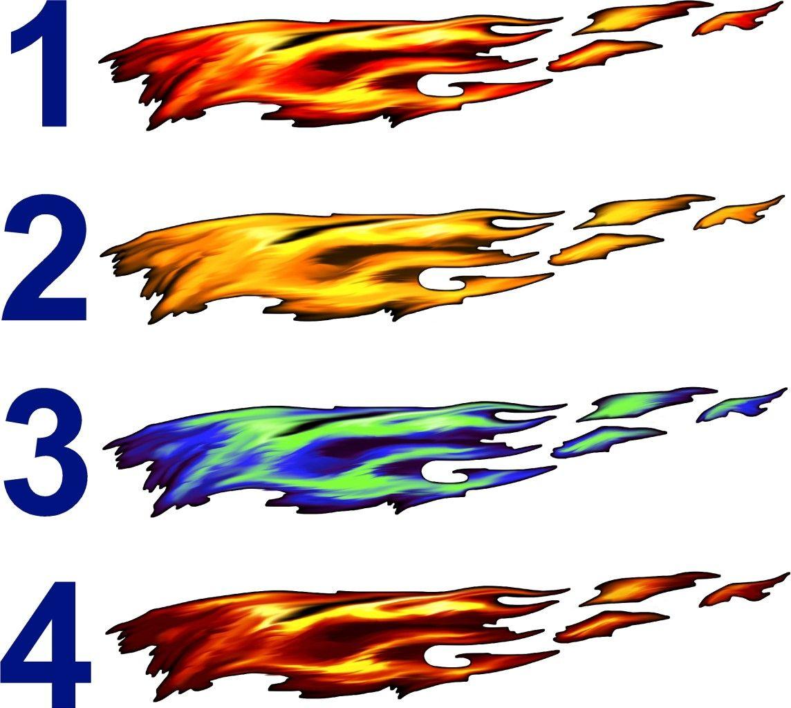 Full Color Flames Graphics Car Truck Decals Truck Decals - Graphics for cars and trucks