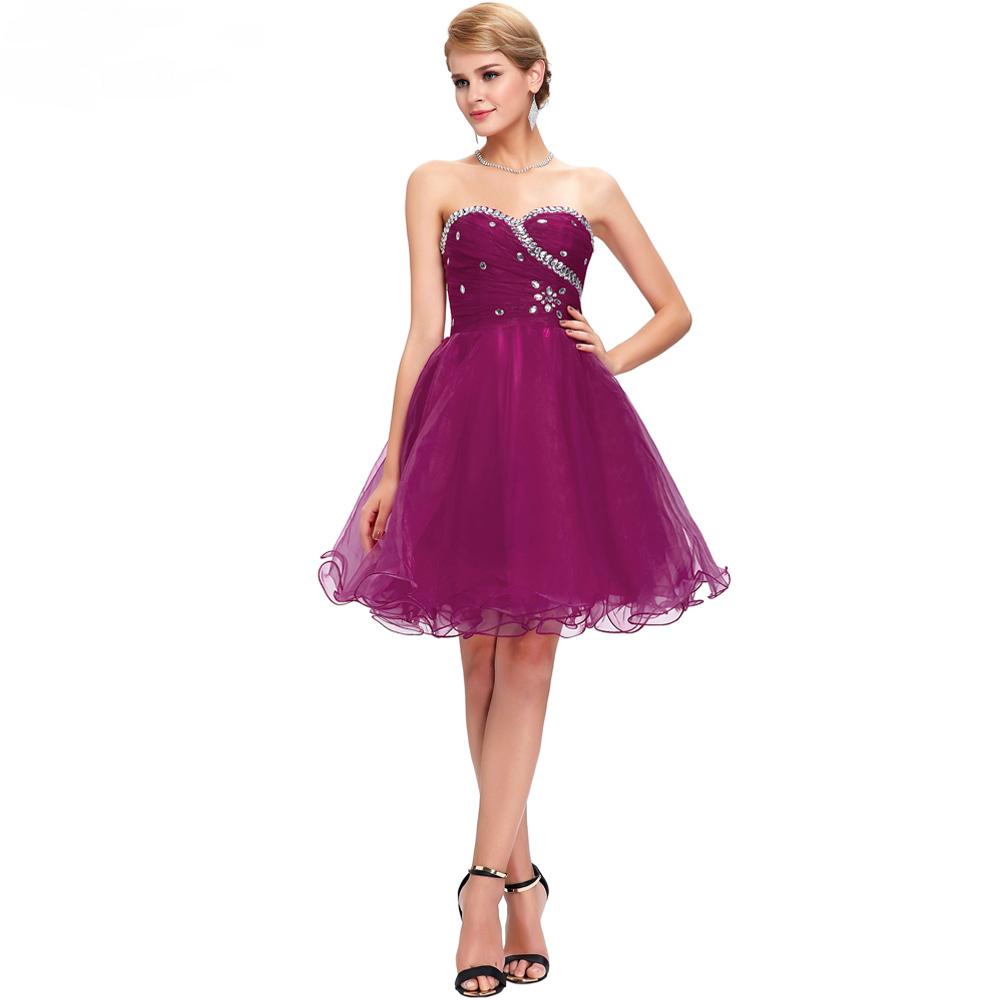 Purple short wedding party bridesmaid dress bridesmaid dresses