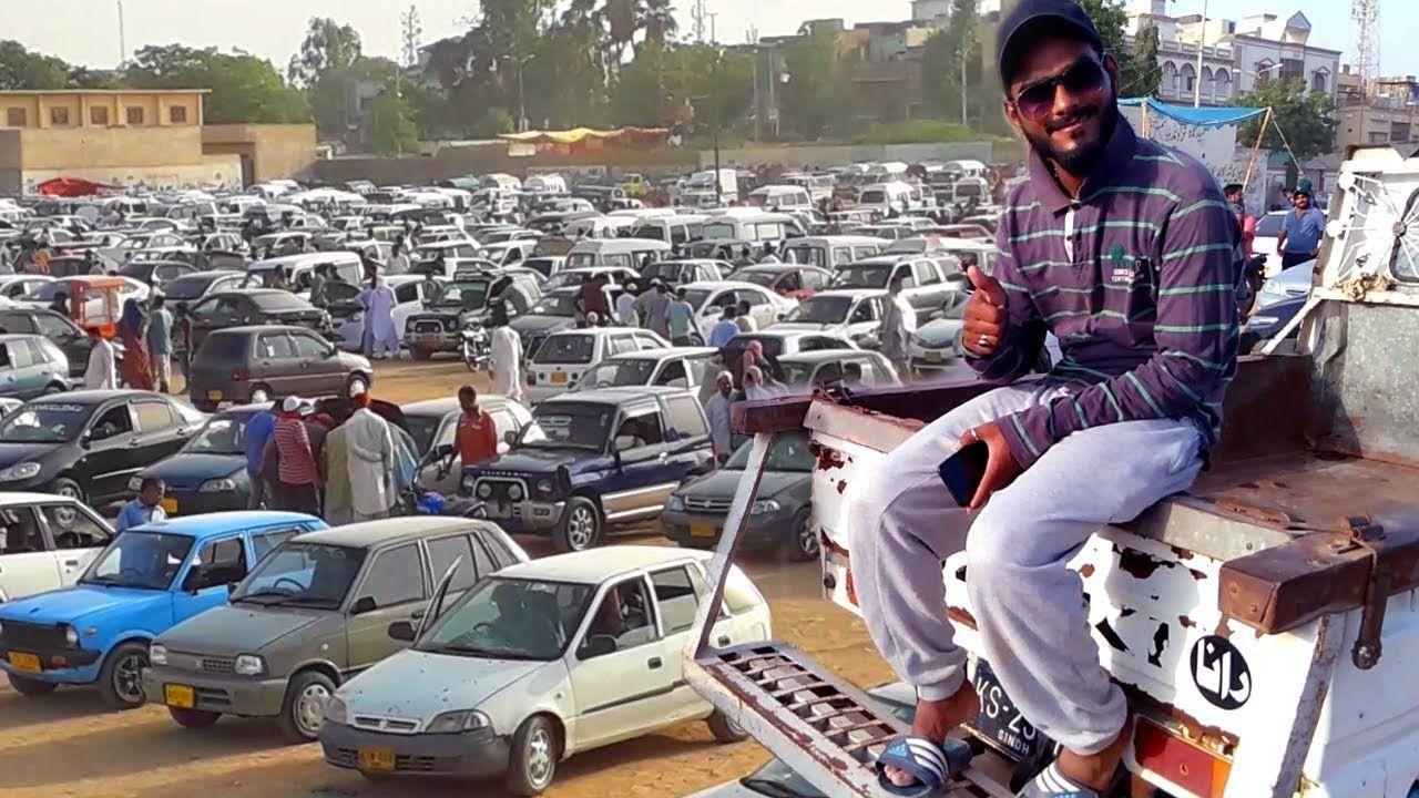 Used Car Bazar in Karachi Pakistan Sunday Cars Market