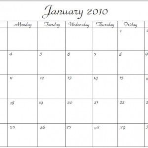 microsoft office word calendar template