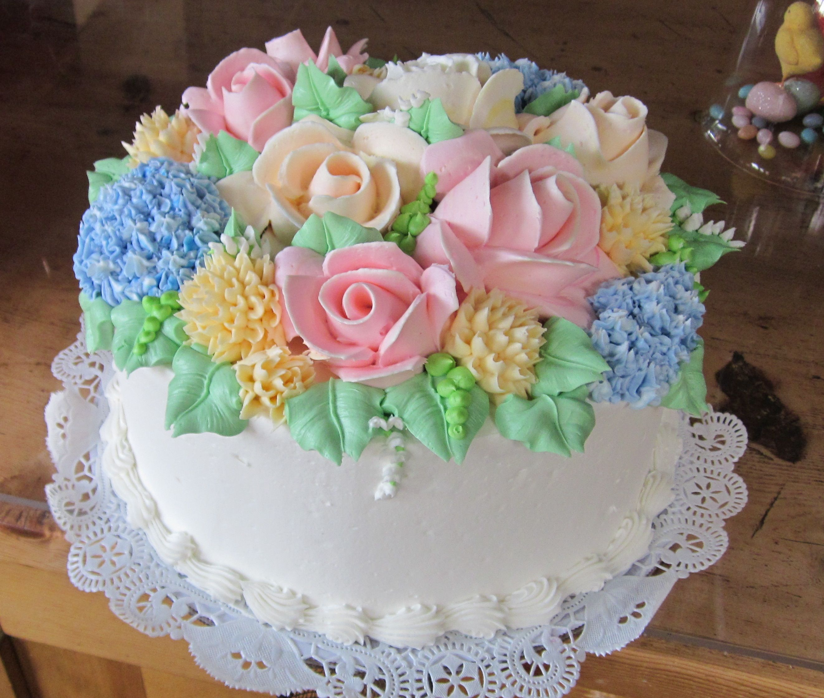 Beautiful pastel spring bouquet cake things i love pinterest beautiful pastel spring bouquet cake dhlflorist Images