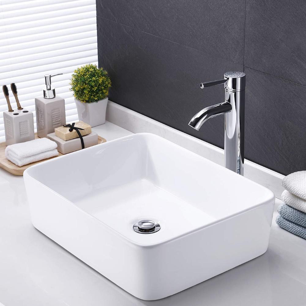 Cupc Certified This Modern Bathroom Sink Meets U S And Canada High Quality Standard Uniform Plumbi Elegant Bathroom Modern Bathroom Design White Vessel Sink