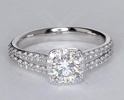 split shank halo engagement ring from blue nile under 5000