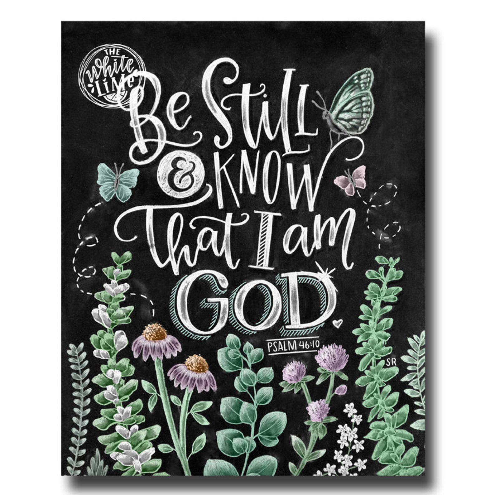 Psalm 46:10  Scripture Sign  Bible Verse Wall Art \u2022 Be Still and Know That I Am God