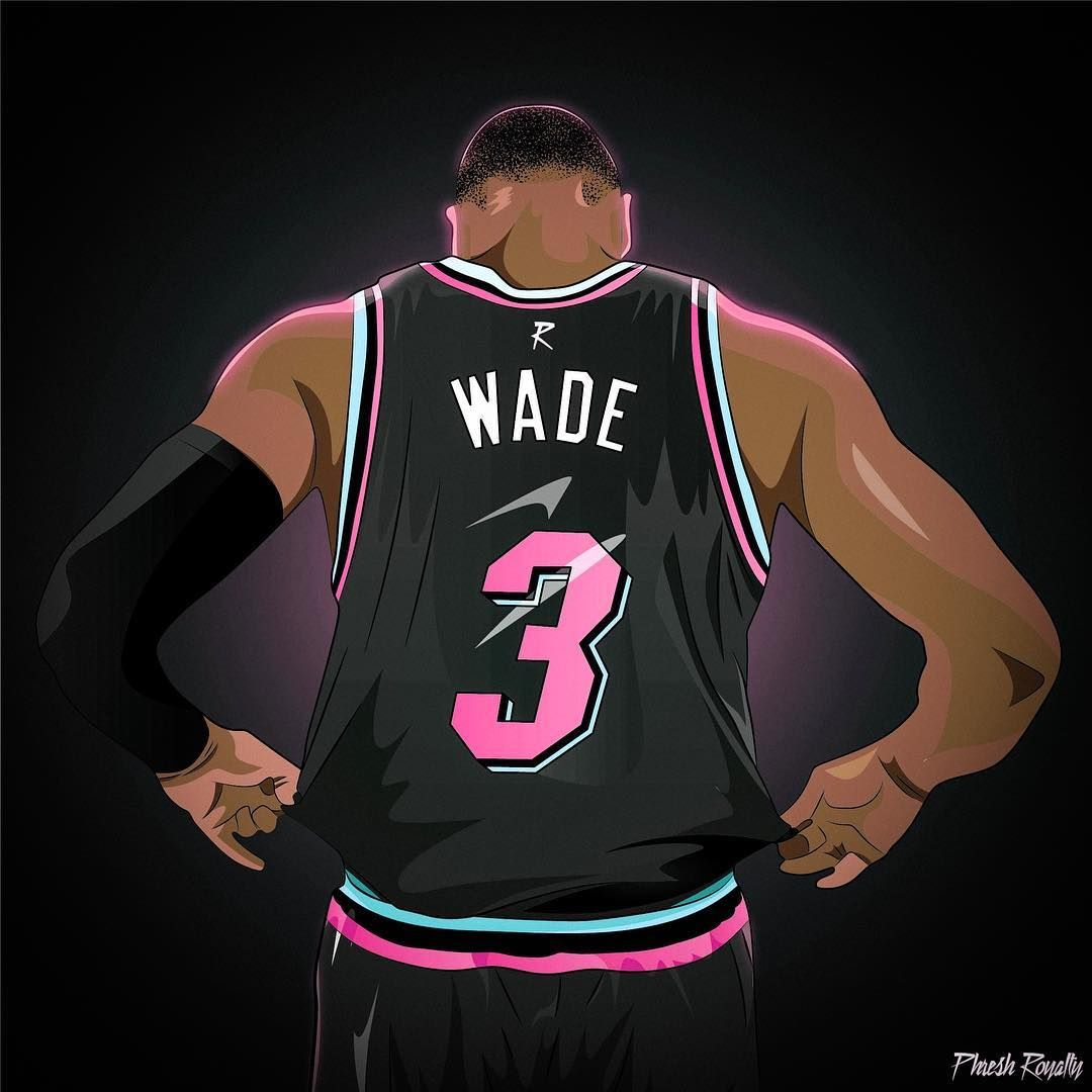 Vice Nights These Jerseys Are Straight Miamivice Vicenight Dwyanewade Miamiheat Basketball Players Nba Nba Basketball Art Nba Pictures