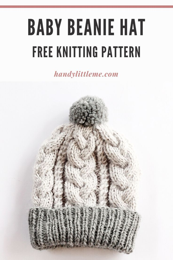 Baby Beanie Hat Pattern Cable Knit In 2020 Baby Hats Knitting Beanie Hat Pattern Cable Knitting Patterns