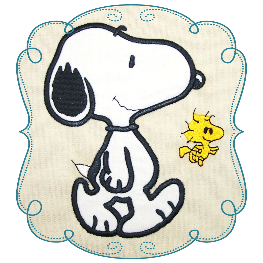 Charlie Brown And Woodstock Iron On Fabric Appliques Snoopy Peanuts