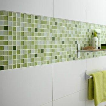 Mosaique Shaker Mix Vert 2 2x2 2 Cm Salle De Bains Vert Et Blanc Salle De Bain Verte Carrelage Salle De Bain