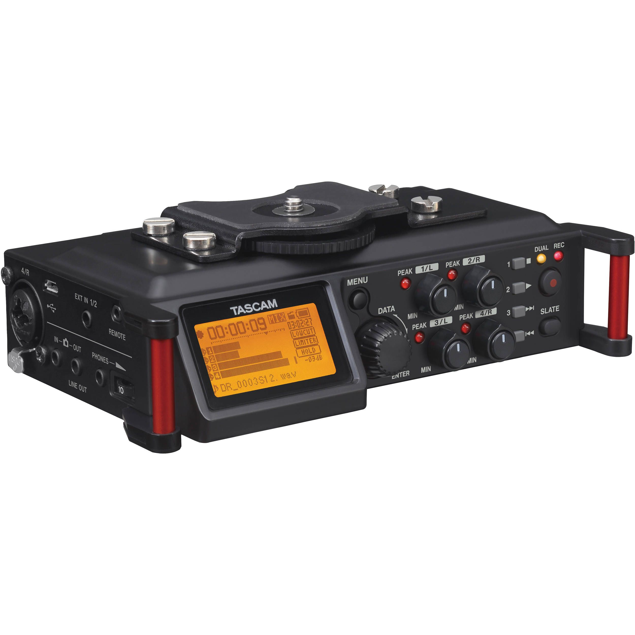 Tascam DR-70D 4-Channel Audio Recording Device for DSLR and Video ...