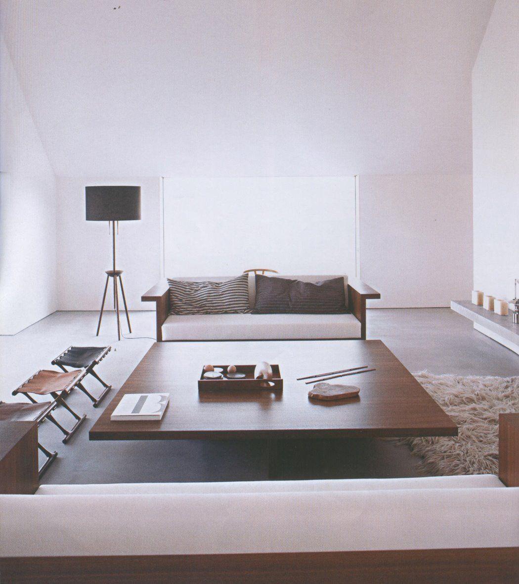 "interior by John Pawson. sofa desk by draide. Poul Hundevad ""Gold ..."