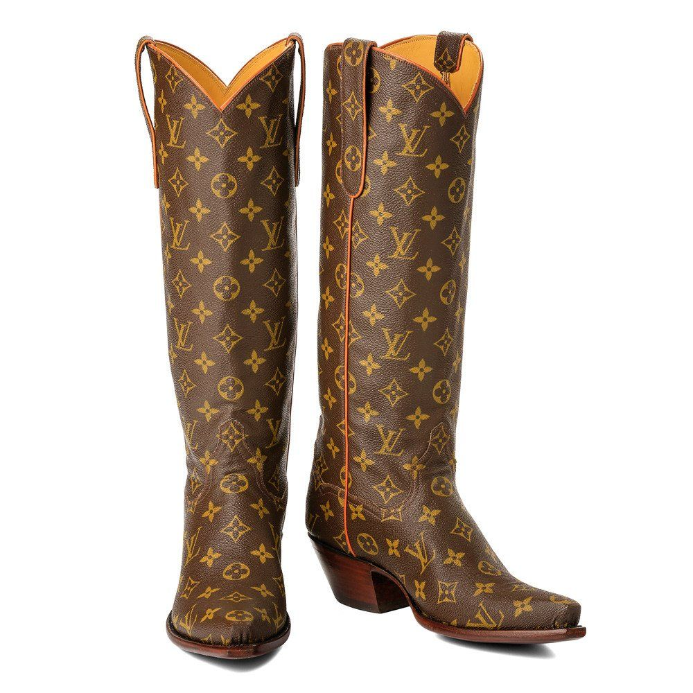 LOUIS VUITTON Leather Western Boots Wbjq8cor