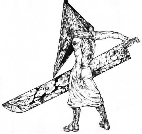 Silent Hill Pyramid Head Drawing