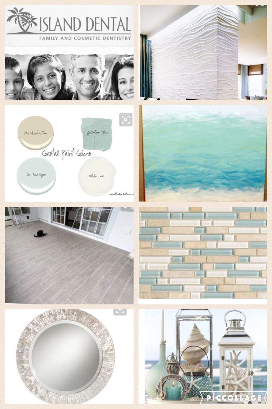 Design Board Inspiration Beach Theme Dental Office With Images