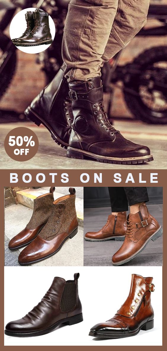 Men boots Now 50% OFF! Use promo code 'CORACHIC8'! Shop now! #rolexwatches