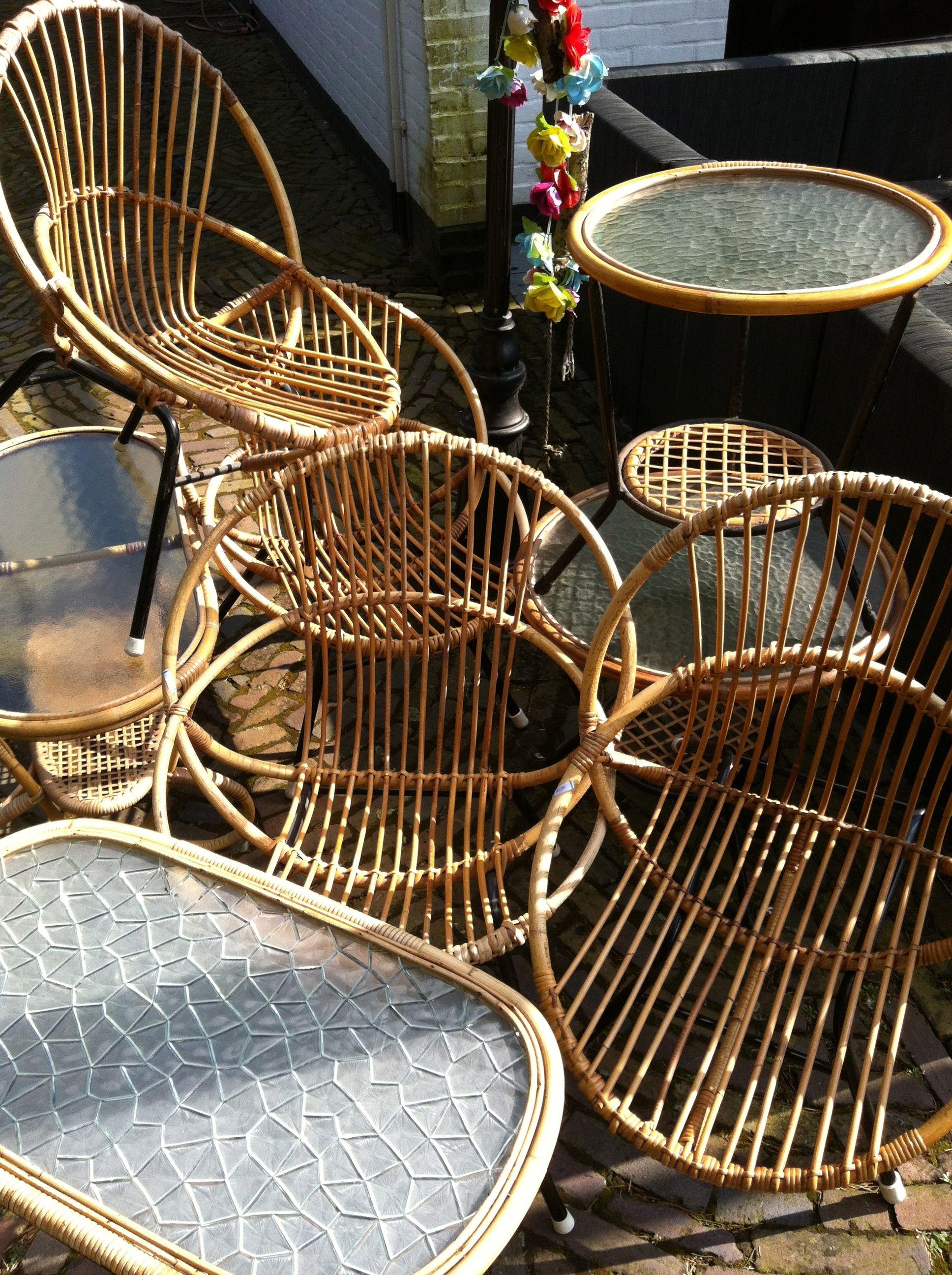 Vintage rotan rotan meubelen rotan stoel rotan tafel had ik ook op mn meisjes kamertje - Tafel tv vintage ...