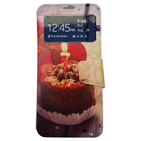 Funda Con Tapa Tipo Libro Para Lg G6 Cupcake ComoTarta De Cumpleaños.