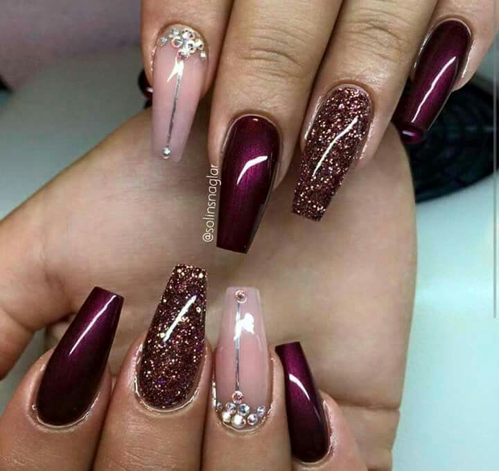 Hair goals · NiceNail Art DesignsBurgundy ... - Pin By V. Cherron On Nail'd Pinterest Nail Nail, Hot Nail