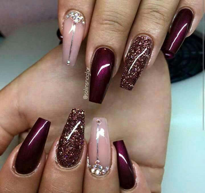 Pin by v cherron on naild pinterest nail nail hot nail hair goals nicenail art designsburgundy prinsesfo Image collections